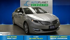 2015 Lincoln MKZ Ecoboost, Navi, Sunroof, Back Up Cam, $103/Wk!