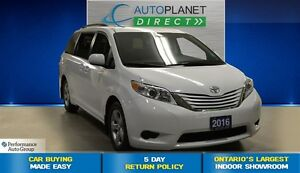 2016 Toyota Sienna LE 8 Passenger, Back Up Cam, Bluetooth, $101/