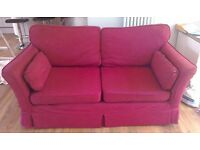 Large two-three red/wine/burgandy sofa couch - there is a matching pair if interested