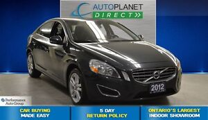 2012 Volvo S60 T5, Sunroof, Leather, $89/Wk!