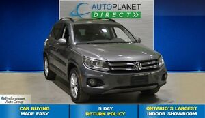 2015 Volkswagen Tiguan Comfortline AWD, Back Up Cam, Sunroof, $8