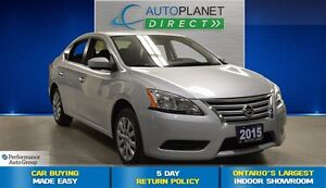 2015 Nissan Sentra 1.8 S, Clean Carproof, Bluetooth, $37/Wk!