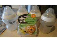 Tommee Tippee bottles and dummys FREE