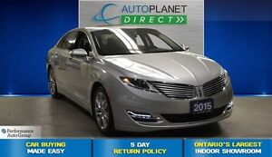 2015 Lincoln MKZ Ecoboost, Navi, Sunroof, Back Up Cam, $111/Wk!