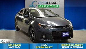 2014 Toyota Corolla S + Bluetooth + Back Up Cam + $71/Week!