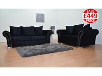 BRAND NEW SOPHIE 3 SEATER AND 2 SEATER SOFA SETS - FAST U.K DELIVERY