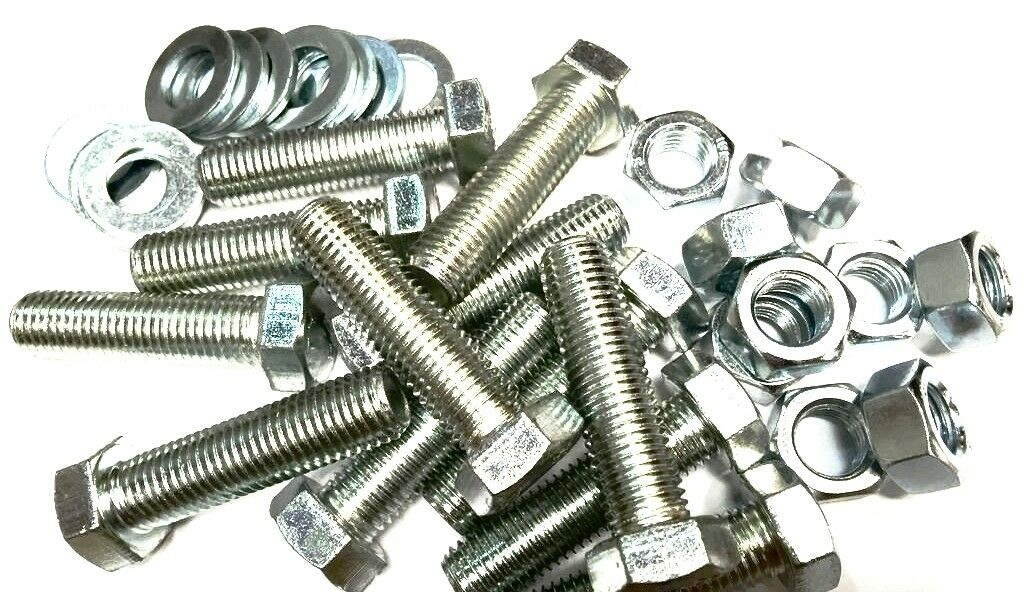 M16 x 150 Stainless Steel Hex Bolts Set Screws 16mm x 150mm Fully Threaded x2