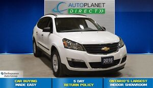 2016 Chevrolet Traverse LS AWD, 8 Passenger, Back Up Cam, $83/Wk