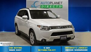 2014 Mitsubishi Outlander GT Tech AWD, Navi, Back Up Cam, $99/Wk
