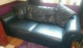 Sofa **Open to offers** Leather 3 seater sofa settee