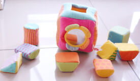 Soft Shape Sorter Textured Baby Soft Play Cube