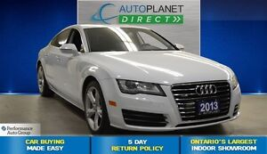 2013 Audi A7 3.0T Premium, Navi, Sunroof, Alloys, $157/Wk!