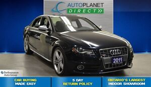 2011 Audi S4 3.0  AWD, Sunroof, Ontario Vehicle, $119/Wk!