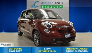 2015 Fiat 500L Lounge, Back Up Cam, Navi, Pano Roof, $53/Wk!