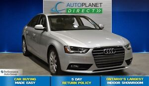 2014 Audi A4 2.0 Quattro Komfort, Sunroof, Heated Seats, $110/W