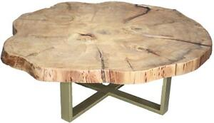 Amish Mennonite Handcrafted Giant Live Edge Tree Stump Coffee Table for Your Decorationn - FREE SHIPPING
