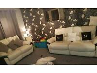 2 seat and 3 seat leather sofa
