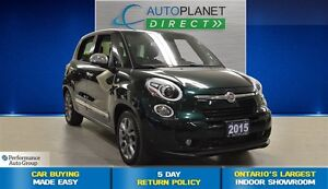 2015 Fiat 500L Lounge, Navi, Pano Roof, Bluetooth, $54/Wk!