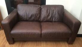 2 seater Italian leather sofa.