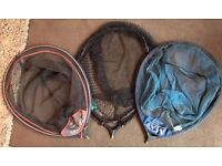 3 x Daiwa, Maver & Map MATCH CARP LANDING NET HEAD - Quick Dry