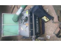 Fishing kit matchbox/seat,Rod,Rod pod, umbrella ect