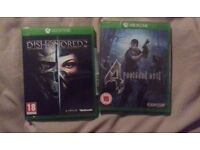 Dishonored 2 and Resident evil 4
