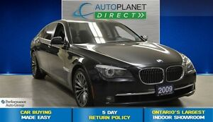 2009 BMW 7 Series i, Navi, Rear View Cam, Sunroof, $115/Wk!