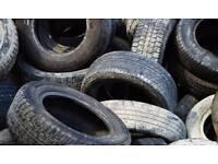 Worn car tyres free