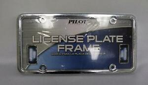 New, Pilot License Plate Frame: WL127-C - silver color