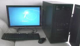 Gaming PC+ 10 Games (i5, Monitor, K/M) 7GB Ram + 1GB GTX, BluRay, WIFI, Quad, Desktop PC, Computer