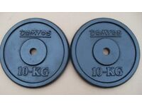 Domyos Cast Iron Weights 2 x 10kg - 30mm hole