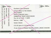 Steve Earle tickets for Perth 26th July (2x Senior Citizen)