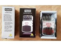 New - Behringer FX600 Digital Stereo Multi Effects Pedal