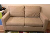 John Lewis Bizet Small Pocket Sprung Sofa Bed, Aquaclean Wilton Fabric purchased for over £1200