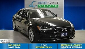 2014 Audi A6 Quattro Technik S Line, Navi, Back Up Cam, $148/Wk