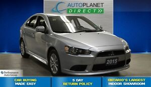 2015 Mitsubishi LANCER SPORTBACK SE, Ontario Vehicle, Heated Sea