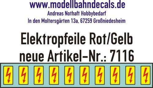 10 Gauge 1 Elektropfeile 0 3/16x0 3/32in Red On Yellow Sign 032-7116