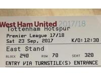 Two tickets for this Saturday 23rd September.