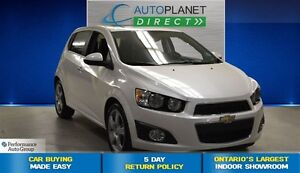2014 Chevrolet Sonic LTZ, Leather, Sunroof, Back Up Cam, $58/Wk!