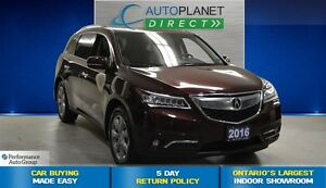 2016 Acura MDX Elite Package, Navi, Back Up Cam, $166/Wk!