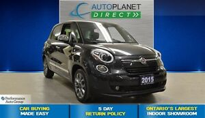 2015 Fiat 500 Lounge, Navi, Leather, Pano Roof, $58/Wk!