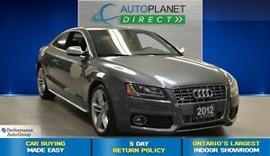 2012 Audi S5 4.2 Quattro Metall, Navi, Glass Roof, $137/Wk!