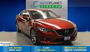 2015 Mazda MAZDA6 GT Tech Pkg, ONE Owner, Navi, Leather, $89/Wk!