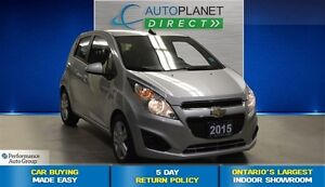 2015 Chevrolet Spark 1LT, Keyless Entry, Ontario Vehicle, $34/Wk