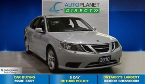 2010 Saab 9-3 2.0T AWD, Clean Carproof, Leather, Sunroof, $96/Wk