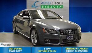2012 Audi S5 4.2 Quattro, Navi, Sunroof, $152/Wk!