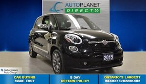 2015 Fiat 500L Lounge, Navi, Pano Roof, $59/Wk!