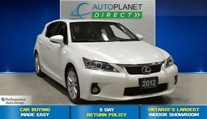 2012 Lexus CT 200h Sunroof, Back Up Cam, $77/Wk!