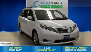2016 Toyota Sienna LE 8 Pass, Back Up Cam, Touch Screen, $100/Wk