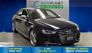 2013 Audi S4 3.0T Premium Plus, Navi, Back Up Cam, $138/Wk!